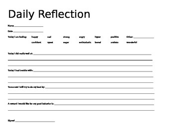 Daily Reflection Chart