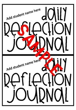 Daily Reflection Journal Notebook Cover-EDITABLE