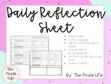 Daily Reflection Sheet