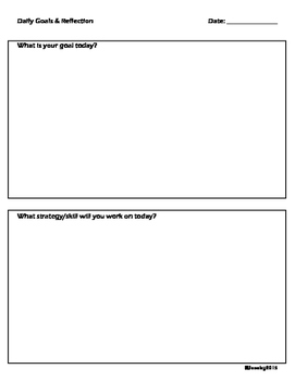Daily Reflection Template