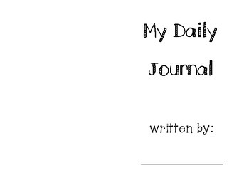 Daily Reflection Writing Journal