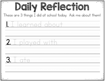 Daily Reflection for Special Education