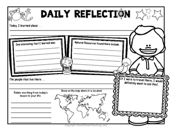 Daily Reflections - Exit Slips for Social Studies Class