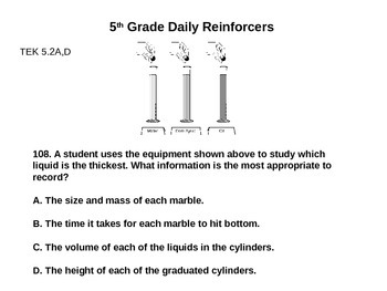 Daily Reinforcers 101-110 (science)