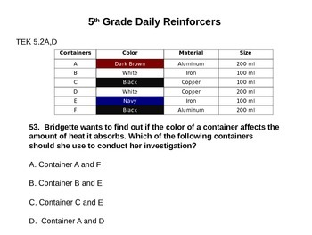 Daily Reinforcers 51-60 (science)