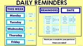 Daily Reminders Display