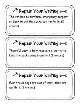 Daily Repair Your Writing Sentence Task Cards