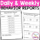 Daily Behavior Report Card