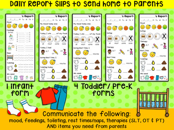 Daily Reports for Infant, Toddler and PreK Caregivers