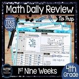 4th Grade Math-Daily Review-Math Warm Up-1st Nine Weeks-Ma