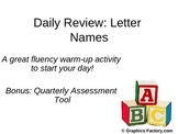 Daily Review Letter Names with Bonus Assessment Tool