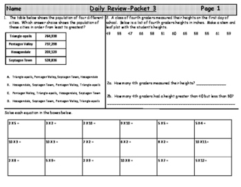 Daily Review-Packet 3