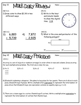 Daily Review for ELA & Math (Common Core Aligned)