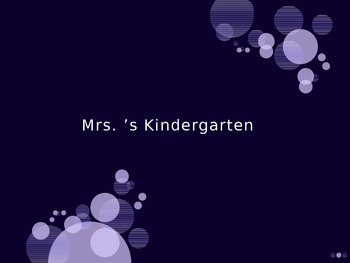 Daily Review for Kindergarten