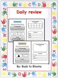 Daily Review that includes Math and Language Arts