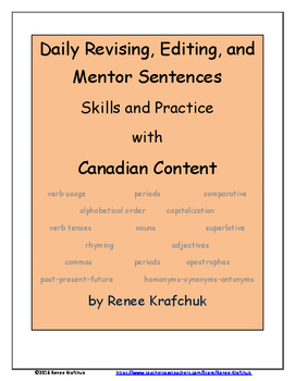 Daily Editing, Revising, and Mentor Sentences (O Canada)