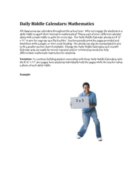 Daily Riddle Calendar measurement