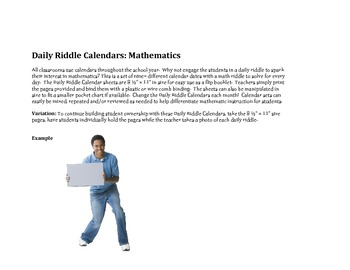 Daily Riddle Calendar multiplication