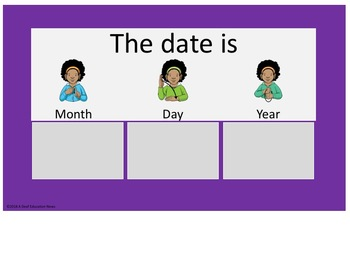 Daily Routine Bulletin Board in ASL-Purple