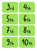 Flashcards Daily Routine Calendar Poster Display