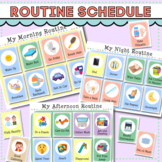 Daily Routine Schedule with Cards for Toddlers, Preschool,