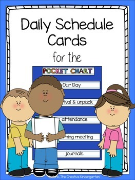 Daily Schedule Cards for the Pocket Chart