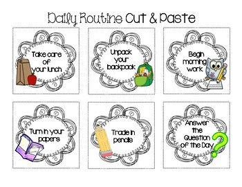 Daily Routine Cut & Paste Sort