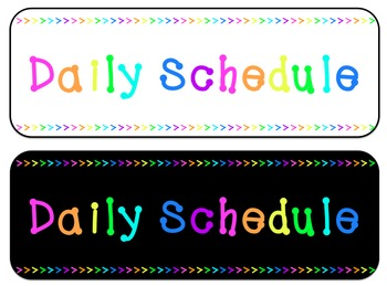 Daily Routine | Daily Schedule Subjects