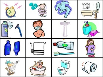 Daily Routine Flash cards (Realidades 2 Ch. 2A)