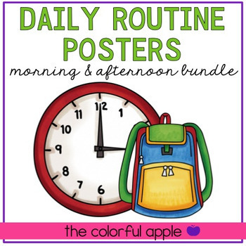 Daily Routines Poster Bundle