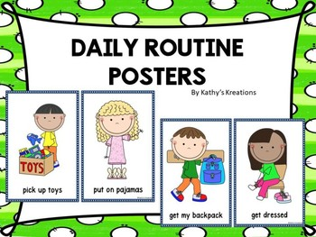 Daily Routine Posters and Cards