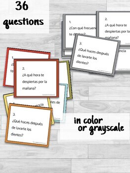 Reflexive Verbs Conversation Cards