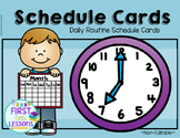 Daily Routine Schedule Cards: Turquoise