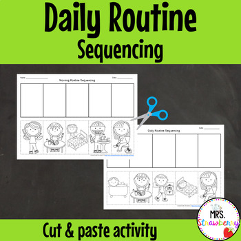 Daily Routine Sequencing Cut and Paste Activity