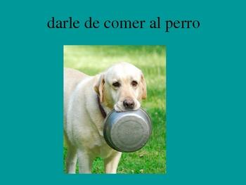 Daily Routine Spanish Vocabulary PowerPoint
