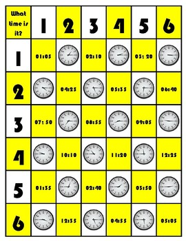 Times, Days of the Week and Routines - Board Games
