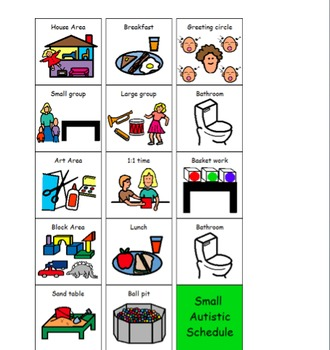 Daily Routine Visuals for Students with Autism