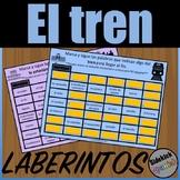 Train Vocabulary Mazes in Spanish