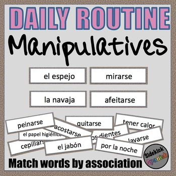 Daily Routine in Spanish Word Sort by Association