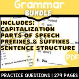 Distance Learning ELA Grammar Review Bundle | Independent