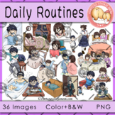 Daily Routines Clipart