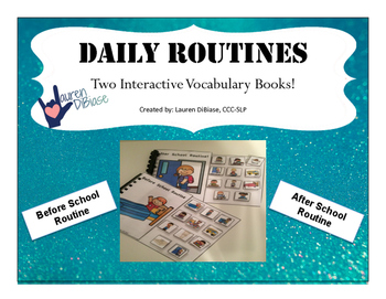 Daily Routines - Interactive Vocabulary Books