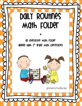 Daily Routines Math Folder