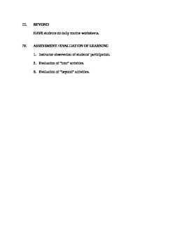 Daily Routines Part 1 - Lesson Plan + Worksheet + Answer Key