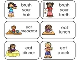Daily Routines Picture Word Flash Cards.