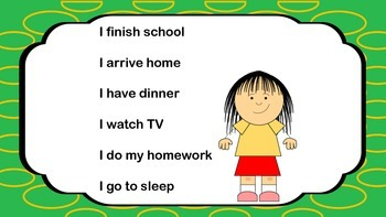 Daily Routines, Present Simple  Telling Time Printable  Power Point Lesson Plan