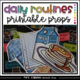 Daily Routines Props Photo Booth - Mi Rutina Diaria