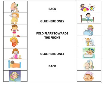 Daily Routines Reflexive Verbs and Related Vocabulary flippable