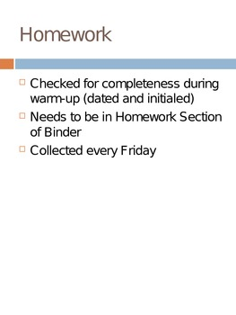 Daily Routines and Student Organization Powerpoints
