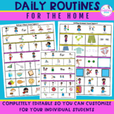 Daily Routines at Home Visual Communication Boards